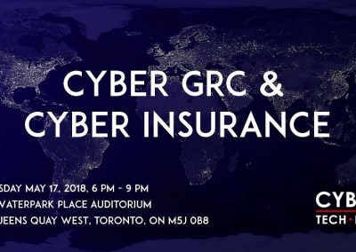Cyber GRC and Cyber Insurance (May 17, 2018)