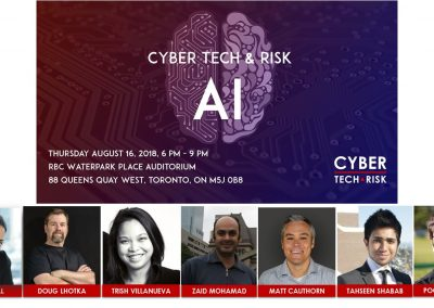 Event Highlights – Cyber Tech & Risk – AI (Aug 16, 2018)