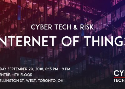 Cyber Tech & Risk – IoT (Sept 20, 2018)