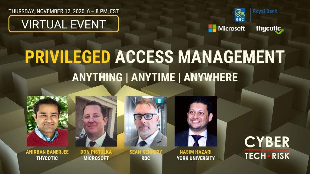 Virtual Event Highlights – Privileged Access Management (Nov 12, 2020)
