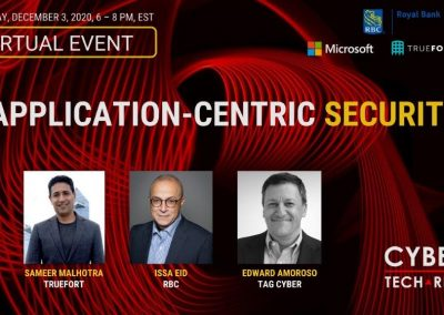 Virtual Event Highlights – Application-Centric Security (Dec 3, 2020)