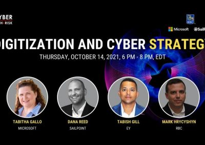 Virtual Event Highlights – Digitization and Cyber Strategy – October 14, 2021